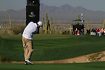 Ross Fisher plays his 2nd shot on the 1st hole during Day 2 of the Accenture Match Play Championship from The Ritz-Carlton Golf Club, Dove Mountain. (Photo Eoin Clarke/Golffile 2011)