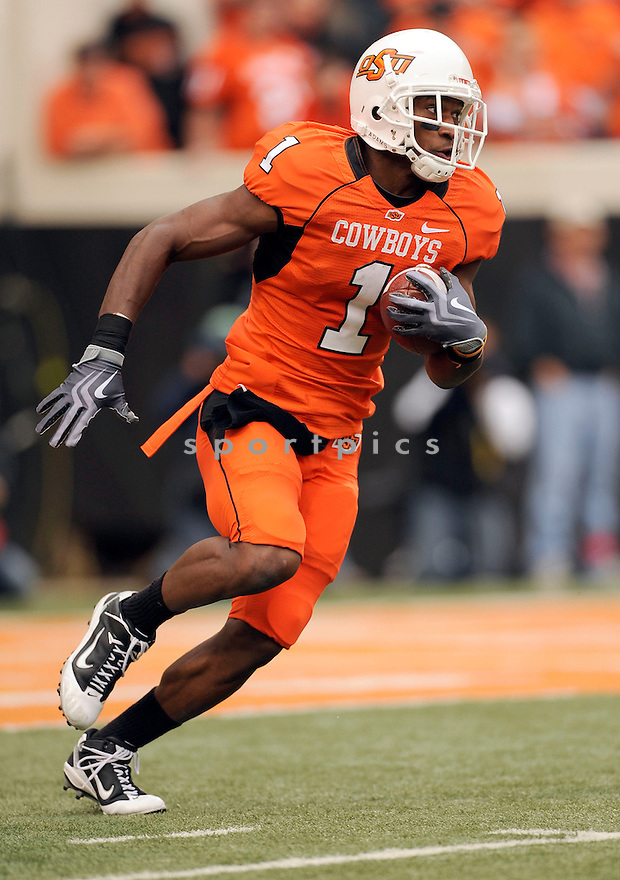 Oklahoma State Cowboys Joseph Randle (1) in action during a game against Nebraska on October 23, 2010 at Boone-Pickens Stadium in Stillwater, OK. Nebraska beat Oklahoma State 51-41.