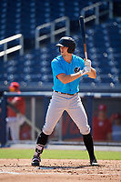 Miami Marlins Kameron Misner (23) at bat during an Instructional League game against the Washington Nationals on September 26, 2019 at FITTEAM Ballpark of The Palm Beaches in Palm Beach, Florida.  (Mike Janes/Four Seam Images)