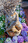 Garden center statue in Marblehead, Massachusetts, USA