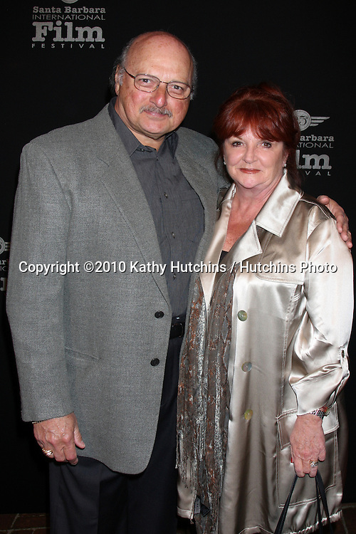 Dennis Franz & wife Joanie.arriving at the 25th Santa Barbara International Film Festival Cinema Vanguard Awards.Lobero Theater.Santa Barbara, CA.February 12, 2010.©2010 Kathy Hutchins / Hutchins Photo....
