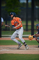 Houston Astros David Hensley (89) bats during a Minor League Spring Training Intrasquad game on March 28, 2019 at the FITTEAM Ballpark of the Palm Beaches in West Palm Beach, Florida.  (Mike Janes/Four Seam Images)