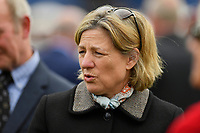 Trainer Eve Johnson Houghton during Racing at Newbury Racecourse on 12th April 2019