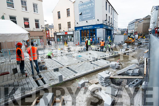 Roadworks nearing completion at the Mall, Tralee.