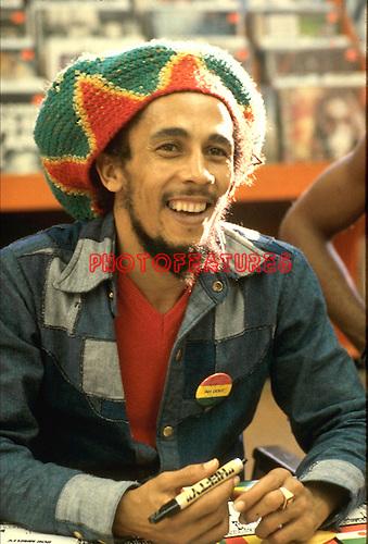 BOB MARLEY 1979 Tower Records Hollywoodl..© Chris Walter..