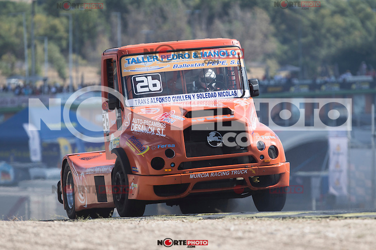 Czech driver Jiri Forman belonging Czech team Buggyra International Racing System during the fist race R1 of the XXX Spain GP Camion of the FIA European Truck Racing Championship 2016 in Madrid. October 01, 2016. (ALTERPHOTOS/Rodrigo Jimenez) /NortePHOTO /NORTEPHOTO.COM
