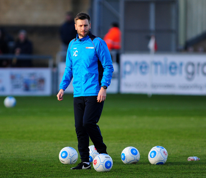 Lincoln City&rsquo;s assistant manager Nicky Cowley during the pre-match warm-up <br /> <br /> Photographer Andrew Vaughan/CameraSport<br /> <br /> Vanarama National League - Lincoln City v Tranmere Rovers - Saturday 17th December 2016 - Sincil Bank - Lincoln<br /> <br /> World Copyright &copy; 2016 CameraSport. All rights reserved. 43 Linden Ave. Countesthorpe. Leicester. England. LE8 5PG - Tel: +44 (0) 116 277 4147 - admin@camerasport.com - www.camerasport.com