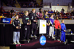 12 MAR 2011: The 141 lbs awards ceremony during the Division III Men's Wrestling Championship held at the La Crosse Center in La Crosse Wisconsin. Stephen Nowland/NCAA Photos