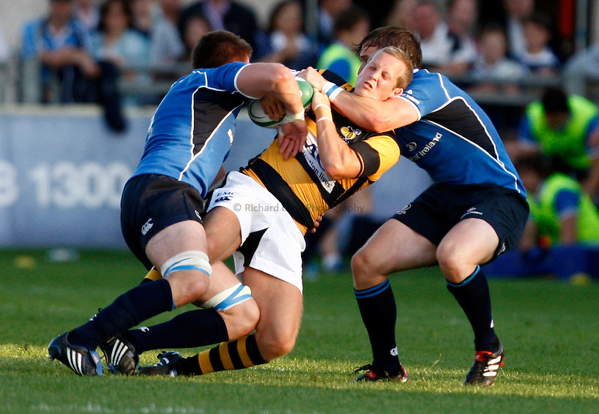 Photo: Richard Lane/Richard Lane Photography. Leinster v London Wasps. Pre Season Friendly. 20/08/2010. Wasps' Dave Walder is tackled.