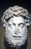 Greek Art:  The Emperor Commodus, bust.  J. Paul Getty Museum.  Photo '86.