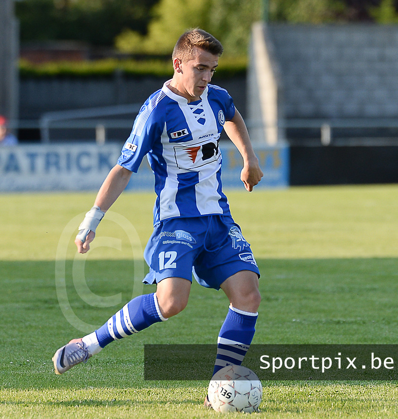 20140626 - LAUWE, BELGIUM : Gent Jari Vandeputte pictured during  a friendly match between FC Gullegem and Belgian first division soccer team KAA Gent, the second match for KAA Gent of the preparations for the 2014-2015 season, Tuesday 24 June 2014 in Lauwe. PHOTO DAVID CATRY