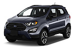 2019 Ford EcoSport SES 5 Door SUV angular front stock photos of front three quarter view