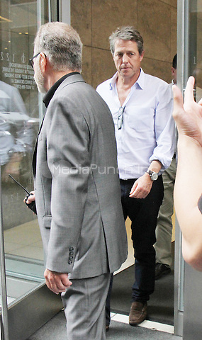 NEW YORK, NY-August 10: Hugh Grant at Howard Stern Show  to talk about his new movie Florence Foster Jenkins' in New York. NY August 10, 2016. Credit:RW/MediaPunch