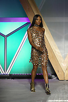Naomi Campbell walks the runway during Fashion for Relief Cannes 2018 during the 71st annual Cannes Film Festival at Aeroport Cannes Mandelieu on May 13, 2018 in Cannes, France. <br /> CAP/GOL<br /> &copy;GOL/Capital Pictures