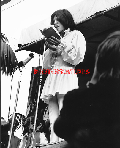 Rolling Stones Mick Jagger 1969 at Rolling Stones Hyde Park Concert