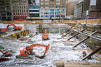 Construction on Sixth Avenue in Midtown Manhattan in New York on Sunday, January 26, 2014. (© Richard B. Levine)