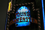 Opening Night Theatre Marquee - The musical Young Frankenstein, which features music by Mel Brooks, book by Brooks and Thomas Meehan based on Brooks' 1974 film, and direction and choreography by Susan Stroman. Hilton Theatre in New York City..October 27, 2007.© Walter McBride /