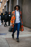 Danielle Prescod attends Day 8 of New York Fashion Week on Feb 19, 2015 (Photo by Hunter Abrams/Guest of a Guest)