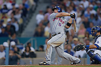 David Wright of the New York Mets during a game from the 2007 season at Dodger Stadium in Los Angeles, California. (Larry Goren/Four Seam Images)