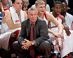 MADISON, WI - NOVEMBER 3: Head coach Bo Ryan of the Wisconsin Badgers watches the game against the University of Wisconsin-Stout Blue Devils at the Kohl Center on September 3, 2006 in Madison, Wisconsin. The Badgers beat the Blue Devils 82-33. Photo by David Stluka