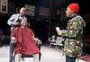 Barbershop Chronicles <br /> A co-production with Fuel &amp; West Yorkshire Playhouse<br /> by Inua Ellams<br /> at the Dorfman Theatre, National Theatre, London, Great Britain <br /> Press photocall <br /> 6th June 2017 <br /> <br /> <br /> Fisayo Akinade<br /> <br /> <br /> Abdul Salis <br /> as Kwame <br /> <br /> Cyril Nri <br /> as Emmanuel <br /> <br /> <br /> Photograph by Elliott Franks <br /> Image licensed to Elliott Franks Photography Services