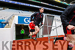 Daniel Murphy Glenbeigh Glencar in action against  Rock Saint Patricks in the Junior Football All Ireland Final in Croke Park on Sunday.