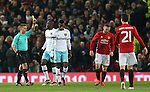Wayne Rooney of Manchester United receives a yellow card during the English League Cup Quarter Final match at Old Trafford  Stadium, Manchester. Picture date: November 30th, 2016. Pic Simon Bellis/Sportimage
