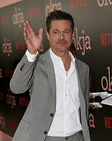 www.acepixs.com<br /> <br /> June 8 2017, New York City<br /> <br /> Actor/producer Brad Pitt arriving at the premiere of 'Okja' hosted by Netflix at the AMC Lincoln Square Theater on June 8, 2017 in New York City.<br /> <br /> By Line: Nancy Rivera/ACE Pictures<br /> <br /> <br /> ACE Pictures Inc<br /> Tel: 6467670430<br /> Email: info@acepixs.com<br /> www.acepixs.com