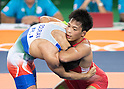 (R-L) Shinobu Ota (JPN), Hamid Mohammad Soryan (IRI), AUGUST 14, 2016 - Wrestling : Shinobu Ota of Japan competes against Hamid Mohammad Soryan of Iran during the Rio 2016 Olympic Games Men's Greco-Roman 59kg Qualification at Olympic Training Center Hall 3 in Rio de Janeiro, Brazil. (Photo by Enrico Calderoni/AFLO SPORT)