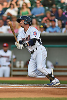 Tennessee Smokies second baseman Stephen Bruno #11 swings at a pitch during a game against the Mobile BayBears at Smokies Park on May 23, 2014 in Kodak, Tennessee. The BayBears defeated the Smokies 7-1. (Tony Farlow/Four Seam Images)