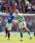 01.09.2019 Rangers v Celtic: Jermain Defoe and Scott Brown