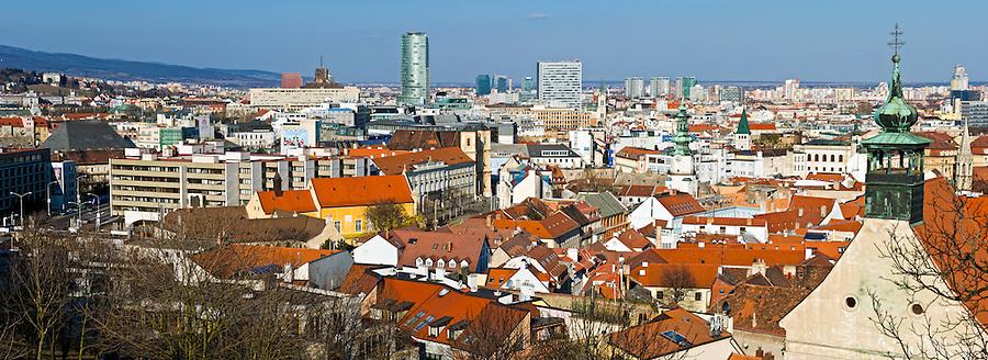 BRATISLAVA, SLOVAKIA - MARCH 7: Panoramic view of downton Bratislava on March 7, 2011. Bratislava is the capital city of Slovakia and a mayor tourist destination.