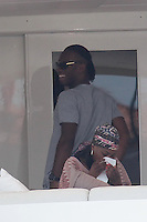 """Didier Drogba enjoys his Saint Tropez vacation aboard  the """"Sussurro"""" yacht - France"""