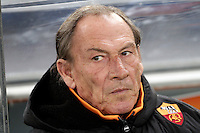 Calcio, semifinale di andata di Coppa Italia: Roma vs Inter. Roma, stadio Olimpico, 23 gennaio 2013..AS Roma coach Zdenek Zeman, of Czech Republic, looks on during the Italy Cup football semifinal first half match between AS Roma and FC Inter at Rome's Olympic stadium, 23 January 2013..UPDATE IMAGES PRESS/Riccardo De Luca