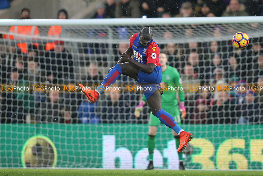 Mamadou Sakho of Crystal Palace heads clear during Crystal Palace vs Middlesbrough, Premier League Football at Selhurst Park on 25th February 2017