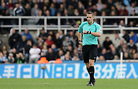 Referee Craig Pawson checks his watch<br /> <br /> Photographer Rich Linley/CameraSport<br /> <br /> The Premier League -  Newcastle United v Liverpool - Sunday 1st October 2017 - St James' Park - Newcastle<br /> <br /> World Copyright &copy; 2017 CameraSport. All rights reserved. 43 Linden Ave. Countesthorpe. Leicester. England. LE8 5PG - Tel: +44 (0) 116 277 4147 - admin@camerasport.com - www.camerasport.com