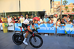 Fabio Aru (ITA) UAE Team Emirates during Stage 1 of the La Vuelta 2018, an individual time trial of 8km running around Malaga city centre, Spain. 25th August 2018.<br /> Picture: Ann Clarke | Cyclefile<br /> <br /> <br /> All photos usage must carry mandatory copyright credit (© Cyclefile | Ann Clarke)