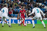 Real Madrid Nacho Fernandez and Jesus Vallejo and CD Numancia Nacho Sanchez  during King's Cup match between Real Madrid and CD Numancia at Santiago Bernabeu Stadium in Madrid, Spain. January 10, 2018. (ALTERPHOTOS/Borja B.Hojas) /NortePhoto.com NORTEPHOTOMEXICO