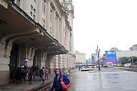 SAO PAULO, SP, 11 Janeiro 2012.Chuva no centro de Sao Paulo proximo a Praca Julio Preste em frente a sala Sao Paulo  .  (FOTO: ADRIANO LIMA - NEWS FREE)