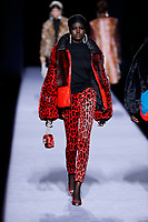 Tom Ford<br /> Adut Akech Bior<br /> New York Fashion Week <br /> FW18<br /> <br /> New York Fashion Week,  New York, USA in February 2018.<br /> CAP/GOL<br /> &copy;GOL/Capital Pictures