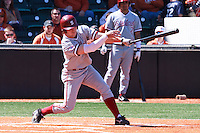 AUSTIN, TEXAS-March 5, 2011:  Jake Stewart of Stanford hits a single during the game against the Texas Longhorns, at Disch-Falk field in Austin, Texas.  Stanford defeated Texas 9-2.