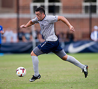 Brandon Allen (10) of Georgetown  carries the ball through midfield during the game at Shaw Field on the campus of the Georgetown University in Washington, DC.  Georgetown tied Creighton, 0-0, in double overtime.