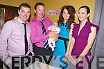 Dawn Rose Teahan, Ballinamona, Castlemaine, pictured with her parents Paul and Patsy and godparents Owen Teahan and Teresa Griffin, at her christening celebrations in The Anvil Bar, Boolteens on Sunday...................