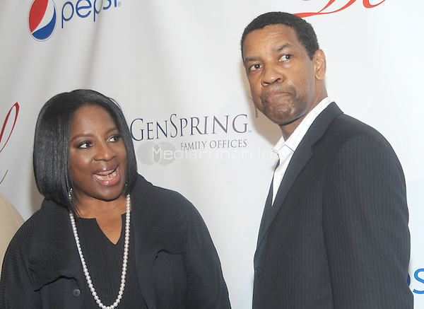 New York, NY- May 16: LaTanya Richardson and Denzel Washington ttends the 80th Annual Drama League Awards Ceremony and luncheon at the Marriot Marquis Times Square on May 16, 2014 in New York City. Credit: John Palmer/MediaPunch