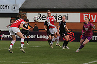 Lisa Evans of Arsenal scores the first goal for her team during Arsenal Women vs Bristol City Women, Barclays FA Women's Super League Football at Meadow Park on 1st December 2019