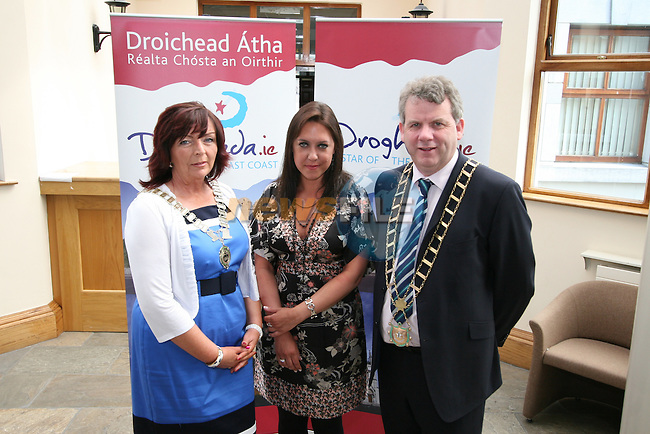 """Chairperson of Drogheda Economic Forum, Patricia Rooney, Caoimhe Mulroy of """"Once Upon Design"""" and Mayor Michael O'Dowd at the Launch of the new Brand for Drogheda Economic Forum...Photo NEWSFILE/Jenny Matthews.(Photo credit should read Jenny Matthews/NEWSFILE)....This Picture has been sent you under the condtions enclosed by:.Newsfile Ltd..The Studio,.Millmount Abbey,.Drogheda,.Co Meath..Ireland..Tel: +353(0)41-9871240.Fax: +353(0)41-9871260.GSM: +353(0)86-2500958.email: pictures@newsfile.ie.www.newsfile.ie.FTP: 193.120.102.198."""