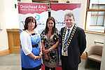 "Chairperson of Drogheda Economic Forum, Patricia Rooney, Caoimhe Mulroy of ""Once Upon Design"" and Mayor Michael O'Dowd at the Launch of the new Brand for Drogheda Economic Forum...Photo NEWSFILE/Jenny Matthews.(Photo credit should read Jenny Matthews/NEWSFILE)....This Picture has been sent you under the condtions enclosed by:.Newsfile Ltd..The Studio,.Millmount Abbey,.Drogheda,.Co Meath..Ireland..Tel: +353(0)41-9871240.Fax: +353(0)41-9871260.GSM: +353(0)86-2500958.email: pictures@newsfile.ie.www.newsfile.ie.FTP: 193.120.102.198."