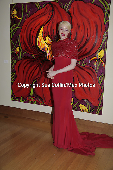 Diandra Forrest at Color of Beauty Awards hosted by VH1's Gossip Table's Delaina Dixon and Maureen Tokeson-Martin on February 28, 2015 with red carpet, awards and cocktail reception at Ana Tzarev Gallery, New York City, New York.  (Photo by Sue Coflin/Max Photos)