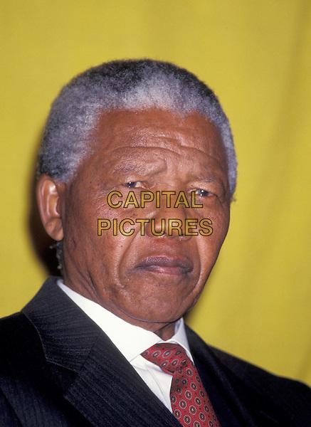 NELSON MANDELA.portrait, headshot.www.capitalpictures.com.sales@capitalpictures.com.©Capital Pictures
