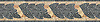 "9"" Milano border, a hand-cut stone mosaic, shown in tumbled Travertine Noce, Durango, Lagos Gold, Rosa Verona, and Verde Alpi."